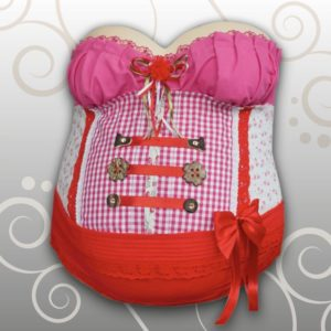 Dirndl-Tracht-Babybauch Ivana Irmscher Be happy Gipsabdruck Fürth