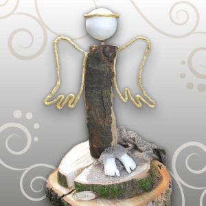 Fußabdruck-Baby-Engel-aus-Holz