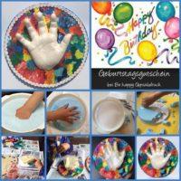 Handabdruck-Kind-Geburtstagsgutschein
