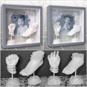 Handabdruck & Fußabdruck Zwillingsmädchen  Ivana Irmscher Be happy Gipsabdruck Fürth