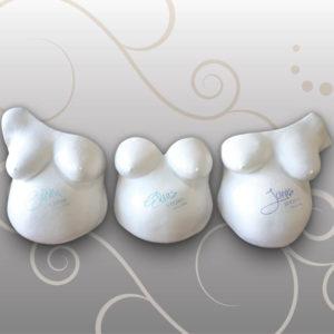Babybauch-Gipsabdruck-drei-Brueder