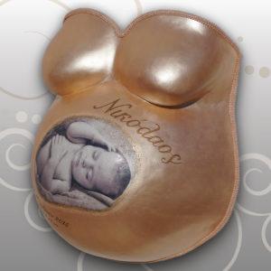Babybauch-Gipsabdruck-Nikolaos-Babyfoto-