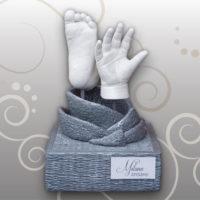 Hand-Babyfußabdruck-Milana-Sockel-