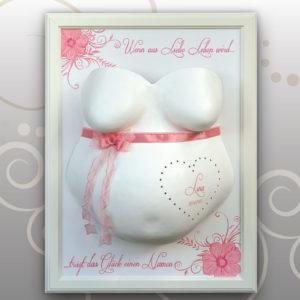 Babybauch-Gipsabdruck-Lina-leuchtendes-Herz
