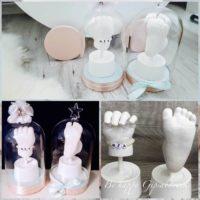 Hand-Babyfußabdruck-Mia-Glasglocke