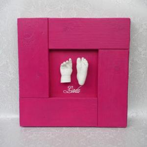 Handabdruck-Fussabdruck Baby Linda