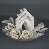 Handabdruck Hochzeitsdeko mit Rosen